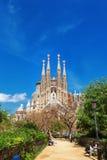 巴塞罗那,西班牙- 2016年4月18日:拉萨格拉达Familia大教堂  免版税库存照片