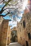 巴塞罗那,西班牙- 2016年4月17日:海海博物馆 免版税库存图片