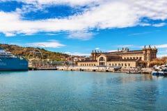 巴塞罗那,西班牙- 2016年4月17日:海海博物馆 库存图片