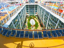 巴塞罗那,西班牙- 2015年9月06日:皇家加勒比,海的魅力 库存照片