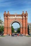 巴塞罗那,西班牙- 2016年4月19日:胜利曲拱 免版税库存图片