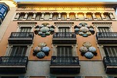 巴塞罗那,西班牙- 2017年1月10日:街道视图 免版税库存图片