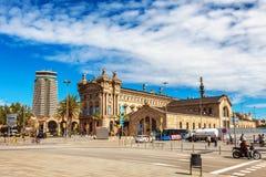 巴塞罗那,西班牙- 2016年4月17日:巴塞罗那海海博物馆  免版税库存照片