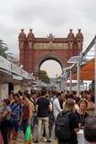 巴塞罗那,西班牙- 2016年9月25日:36酒和卡维的节日2016访客 库存图片