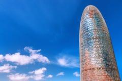 巴塞罗那,西班牙- 2016年4月17日:Torre塔Agbar 免版税库存图片