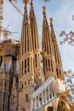 巴塞罗那,西班牙- 2015年12月30日- Sagrada后侧方门面  图库摄影