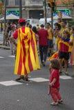 巴塞罗那,西班牙- 9月 11 :人体现的ingependence 库存图片