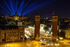 巴塞罗那,西班牙- 6月6 :有启发性大厦和街道  库存照片