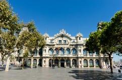 edifici de la Duana大厦在巴塞罗那。 西班牙 免版税库存图片