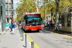 巴塞罗那街道在2012年9月13日的 免版税图库摄影