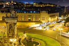 巴塞罗那,西班牙- 6月6 :2016年6月6日的有启发性大厦 库存图片