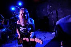 Jenn Wasner, Y形支架橡木的歌手 库存图片