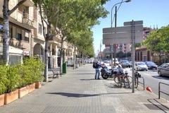 巴塞罗那,都市风景 库存图片