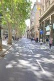 巴塞罗那,都市风景 库存照片