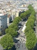 巴塞罗那, La Ramblas 免版税库存照片