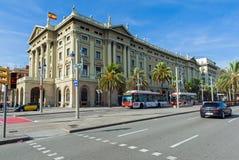 巴塞罗那经典建筑学  库存图片