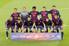 巴塞罗那足球俱乐部合作2013年 库存图片