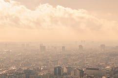 巴塞罗那-桃红色城市 免版税库存照片