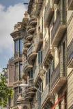 巴塞罗那建筑学 库存图片