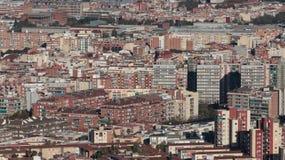 巴塞罗那建筑密度 图库摄影