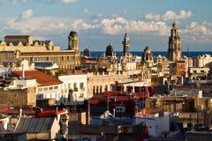 巴塞罗那-西班牙语人聚居的区域Gotico天视图  免版税库存照片