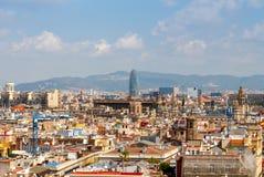 巴塞罗那 agbar塔 免版税图库摄影