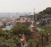 巴塞罗那 从Guell公园的看法 免版税库存图片
