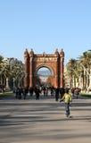 巴塞罗那Arc de Triomf 免版税库存图片
