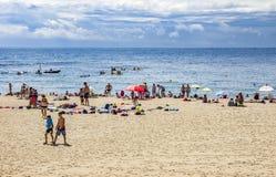 巴塞罗那barceloneta海滩西班牙 图库摄影