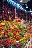巴塞罗那boqueria la市场 库存图片