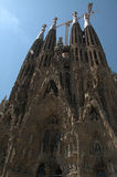 巴塞罗那familia la sagrada西班牙 欧洲 库存照片