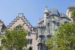 巴塞罗那Gaudi的房子 库存照片