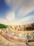 巴塞罗那guell公园西班牙 图库摄影