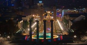 巴塞罗那Montjuic魔术喷泉 图库摄影
