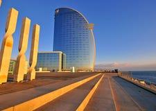巴塞罗那W旅馆 库存照片