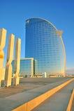 巴塞罗那W旅馆 免版税库存图片
