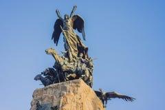 塞罗de la格洛里亚纪念碑在Mendoza,阿根廷。 图库摄影