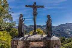 塞罗de Monserrate波哥大哥伦比亚Sanctuary  库存照片