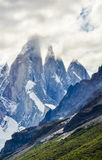 塞罗Torre峰顶, El Chalten,阿根廷 免版税库存照片