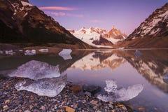 塞罗Torre, Los Glaciares国家公园,巴塔哥尼亚, 免版税库存照片