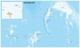 塞舌尔共和国的传染媒介地图 免版税库存图片