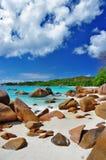 塞舌尔群岛海滩 免版税库存照片