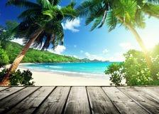 塞舌尔群岛海滩 图库摄影