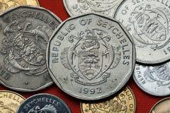 塞舌尔群岛的硬币 免版税图库摄影