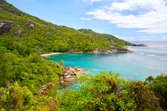 塞舌尔群岛的自然风景 库存照片
