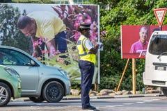 塞舌尔群岛的警察 免版税库存照片