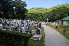 塞舌尔群岛的, La digue海岛公墓 免版税库存照片
