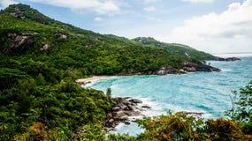 塞舌尔群岛隐居 库存图片