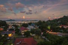塞舌尔群岛首都维多利亚, Mahe海岛 免版税库存图片