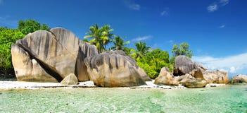 塞舌尔群岛, La digue 库存图片